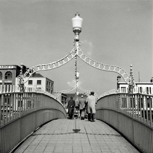 Ha'Penny bridge on River Liffey