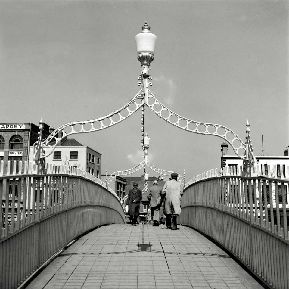 Ha'Penny bridge on River Liffey