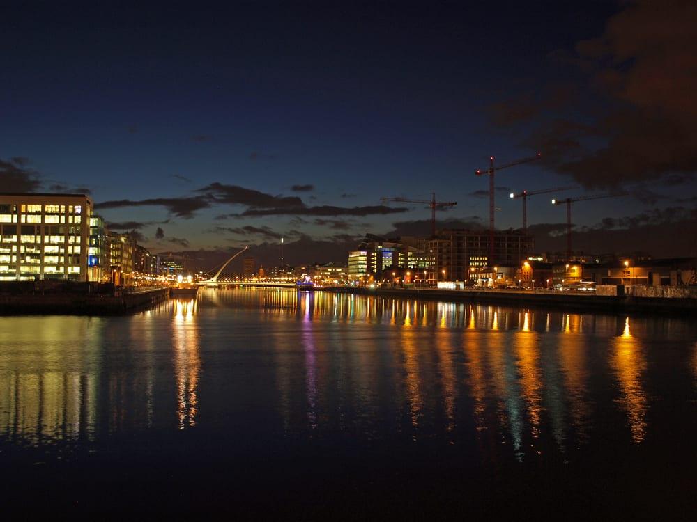 port house dublin at night