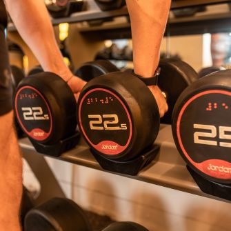 Weights in The Mont Hotel Gym